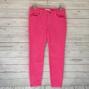 Vineyard Vines Pink Corduroy Slim Fit Pants 0